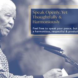 Speak Openly, Yet Harmoniously & Thoughtfully